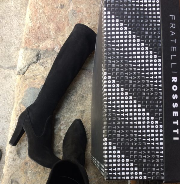 Bottes chaussettes noires Fratelli Rossetti